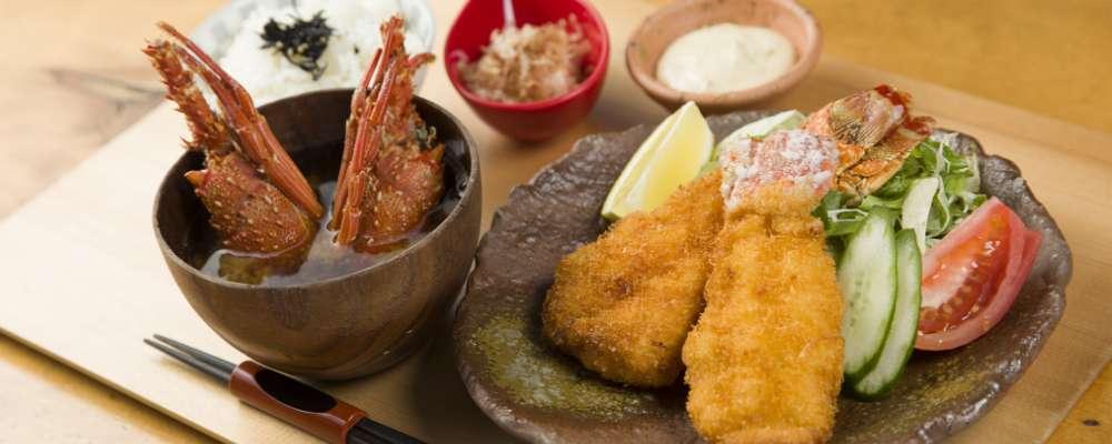 Deep-fried Ise lobster