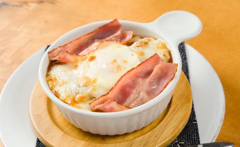 卵とチーズの焼カレー